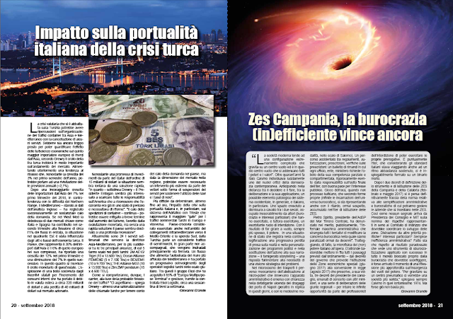 SETTEMBRE2018 PAG. 20 - Impatto sulla portualità italiana della crisi turca