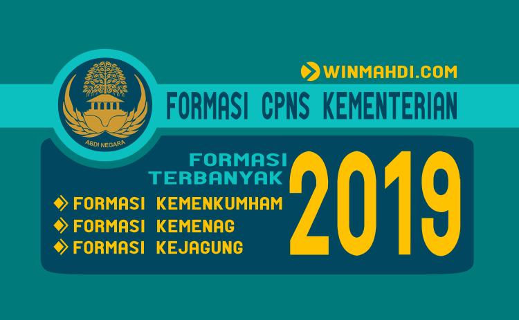 Formasi CPNS 2019 Kemenag Kemenkumham Kejagung