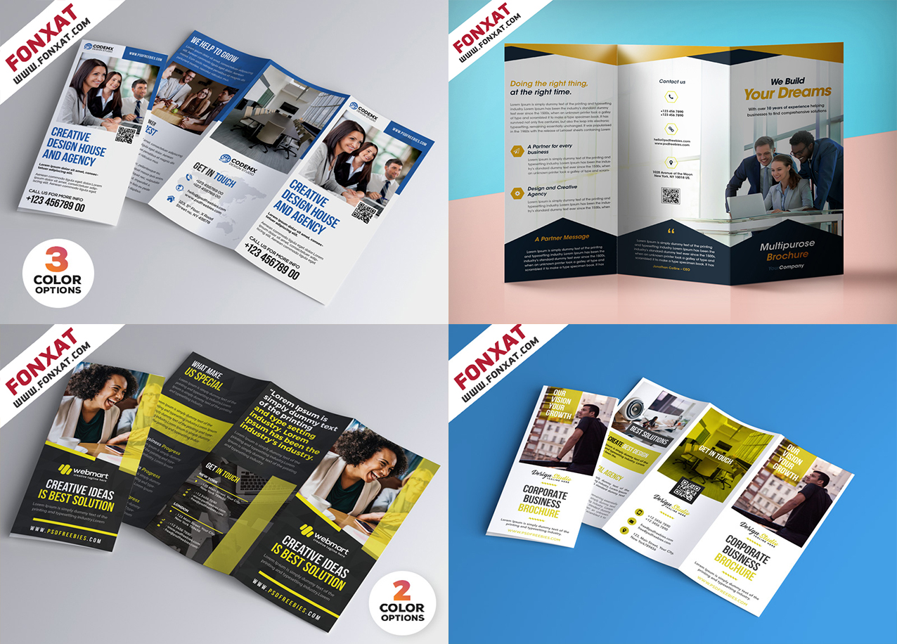 brochures collection of photoshop and business management
