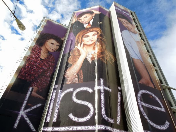 giant Kirstie sitcom billboard