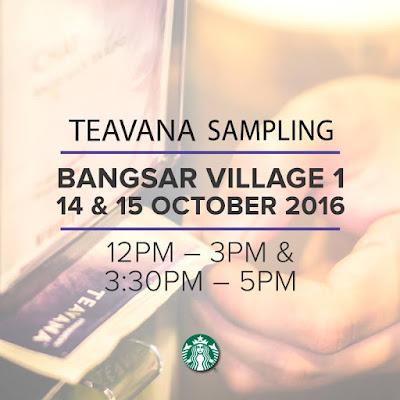 Free Starbucks Malaysia Teavana Sampling Discount Promo
