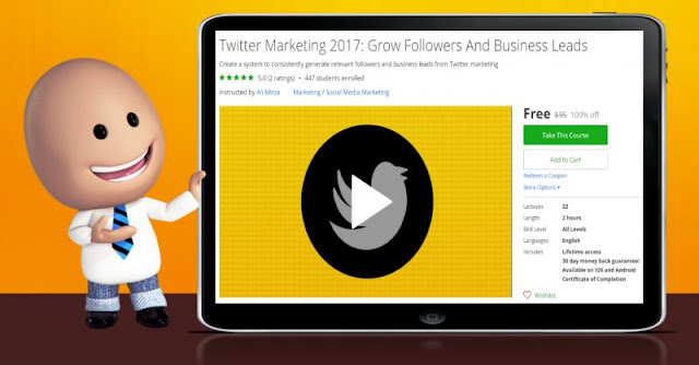 [100% Off] Twitter Marketing 2017: Grow Followers And Business Leads| Worth 95$