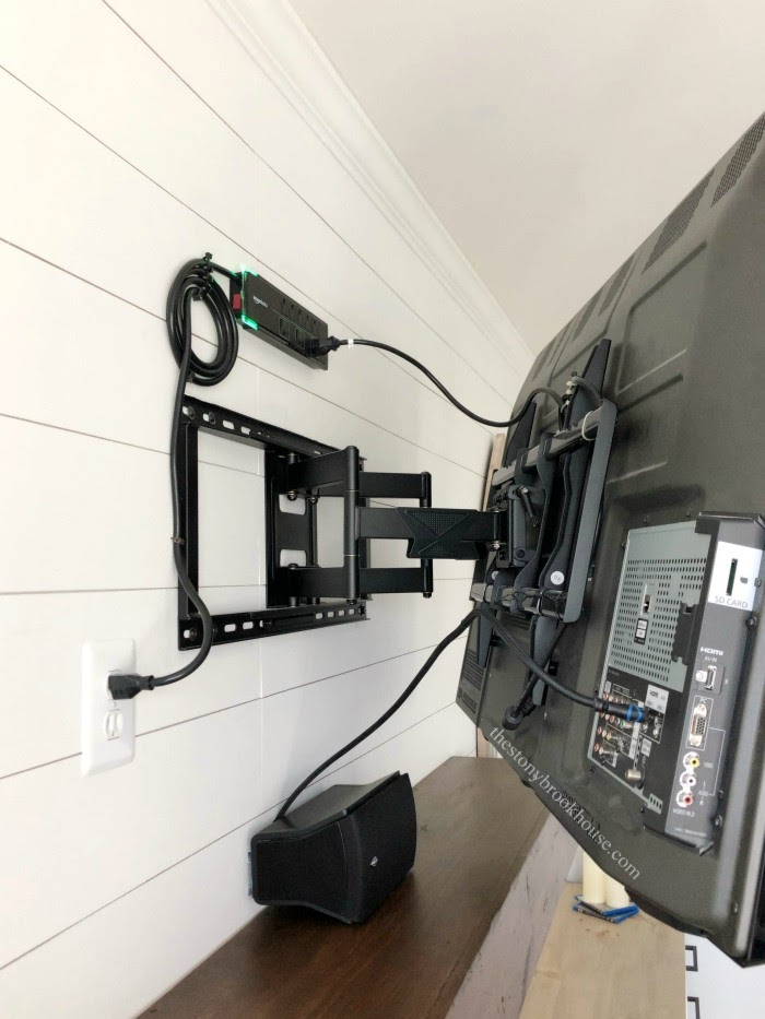 Behind TV Full Motion Wall Mount