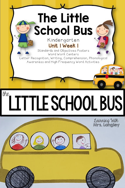 This blog post is all about the organization and setup of the first real week of kindergarten. There are ideas for morning work, math, centers, and a fun school bus craft. #classroom #classroomactivities #kindergarten #classroomschedule #firstdayofschool