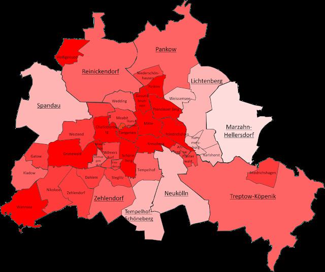 Map of Berlin District