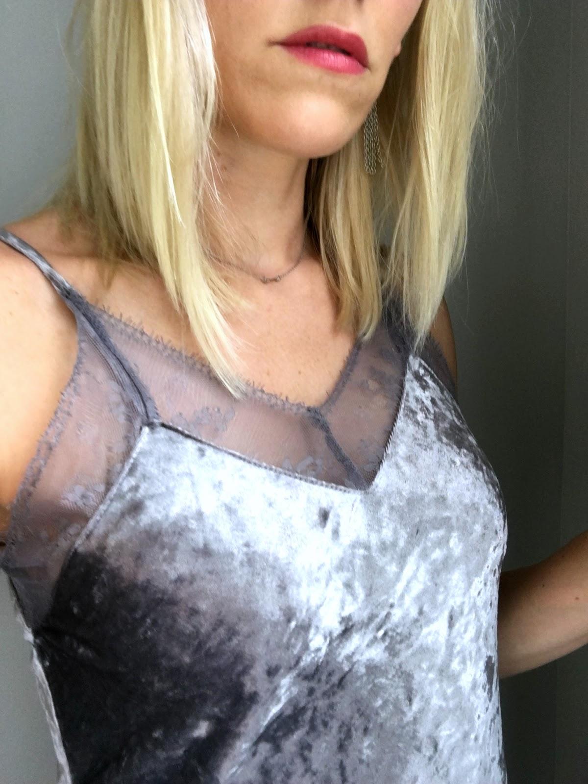 Velvet Slip Dress from Target
