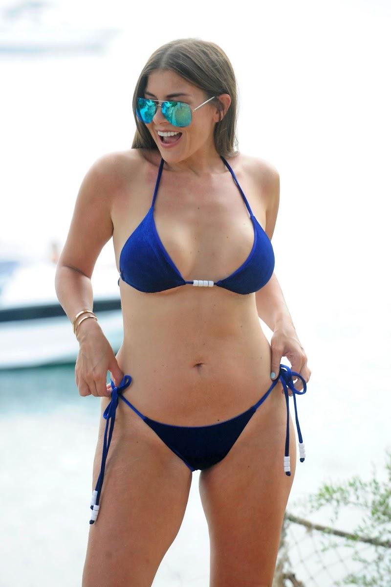 Imogen Thomas Clicked in Blue Bikini in Mallorca  2 Sep -2017
