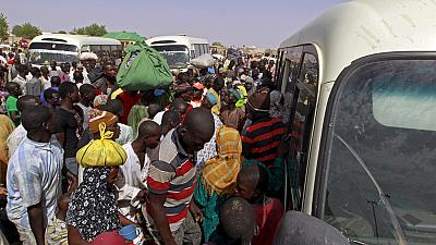 Around 30 000 people fled into Cameroon at the weekend from the Nigerian city of Rann