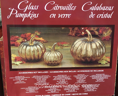 Costco 999381 - Glass Pumpkins - great as Halloween or Thanksgiving decorations