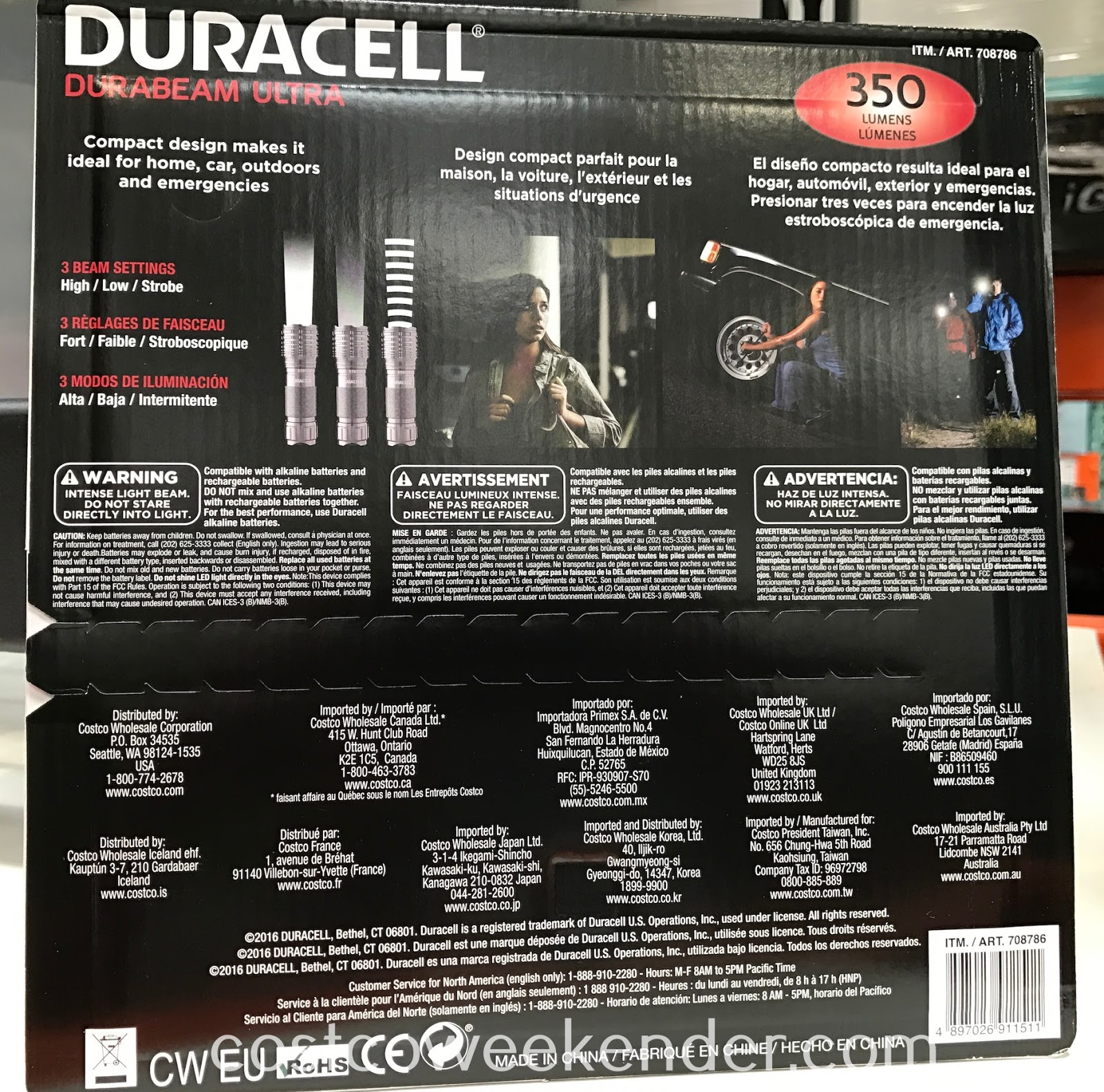Costco 708786 - Duracell Durabeam Ultra LED Flashlight 350 Lumens: practical and great for many occasions