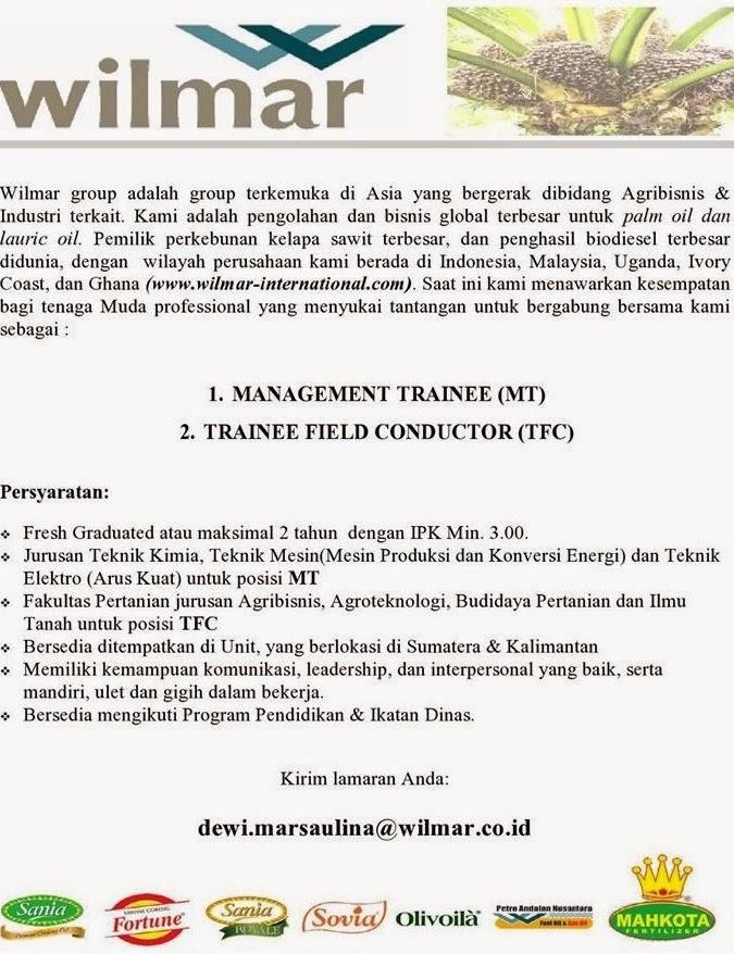 Agribisnis Kelapa Sawit Terbaru Info Agribisnis Com Portal Pertanian Indonesia Lengkap Lowongan Kerja Pt Wilmar International Sumatera And Kalimantan Portal
