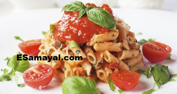 தக்காளி பன்னீர் பாஸ்தா செய்வது | Making Tomato Paneer Pasta Recipe !