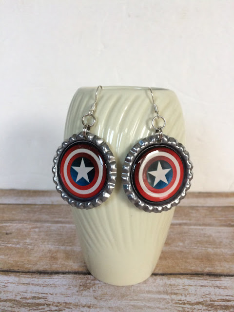 Captain America Shield Earrings