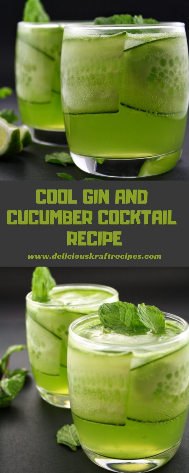 COOL GIN AND CUCUMBER COCKTAIL RECIPE