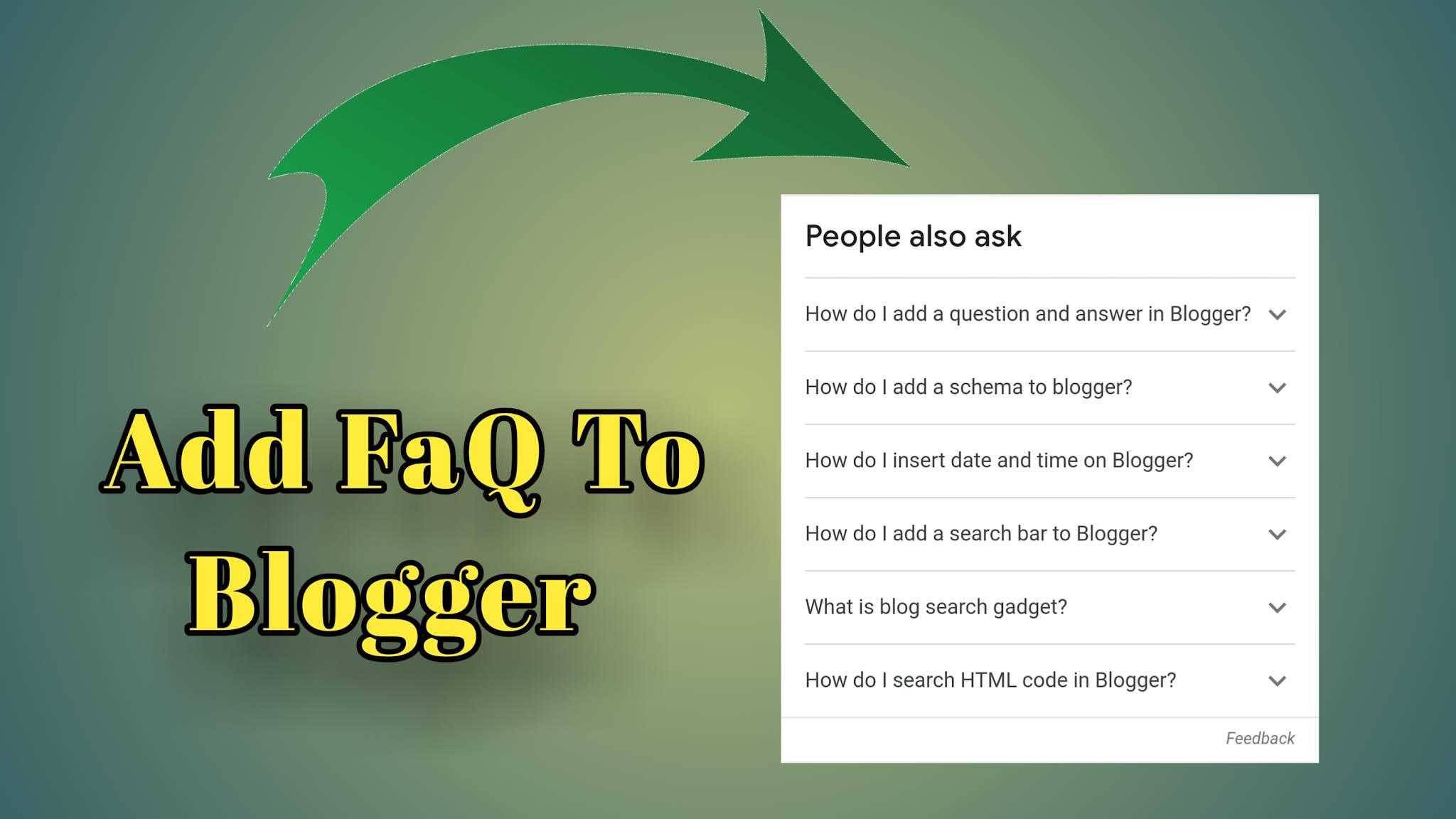 Add FAQ schema in Blogger