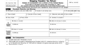 The Tax Times: The Deceptive Simplicity of Form 706 NA
