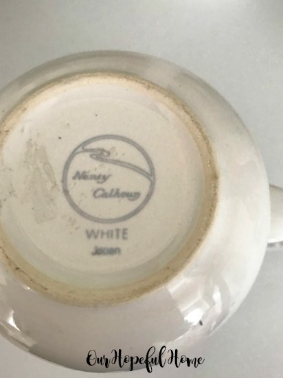 Nancy Calhoun White Japan porcelain creamer