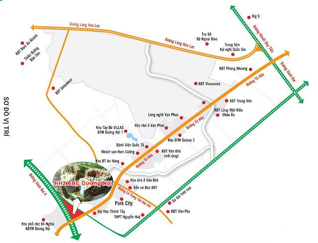 Vị trí chung cư Xuân Mai Sparks Tower - Dương Nội