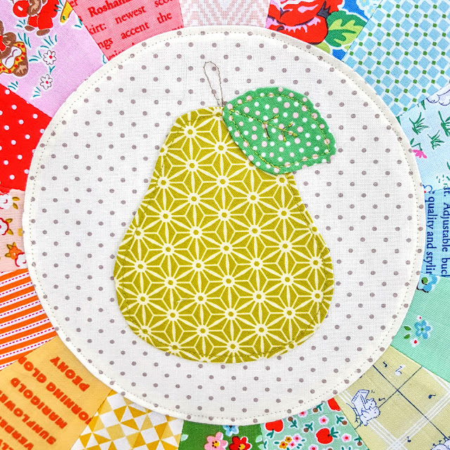 Lori Holt's Sweetie Pie Quilt: Pear Block Pillow by Heidi Staples of Fabric Mutt
