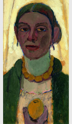 Autoportrait With Lemon (1907), Paula Modersohn becker