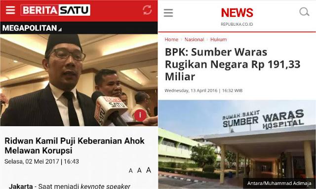 Puji Keberanian Ahok Lawan Korupsi, Netizen: Ada Apa dengan RK? Lupa Sumber Waras?