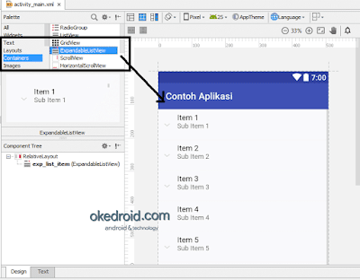 Design ExpandableListView Android Studio