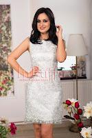 Rochie midi mint cu aplicatii argintii brodate • Ade