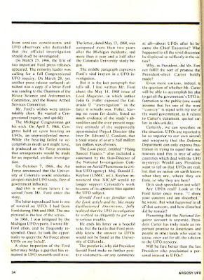 How Presidents Have Handled The Topic of UFOs (Pg 5) - By Robert Barrow - Argosy UFO 1977-78