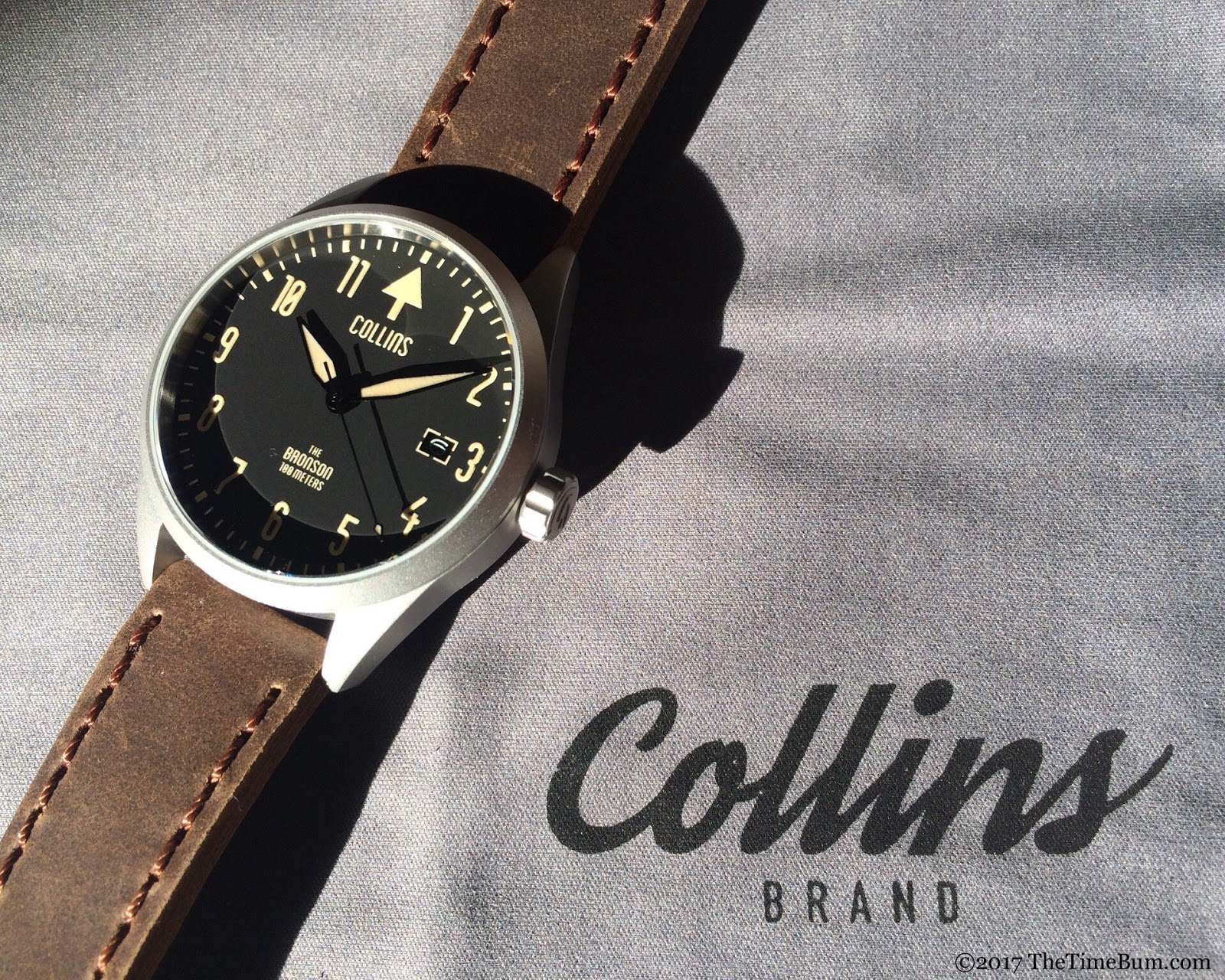 Collins Watch The Bronson silver bead blasted