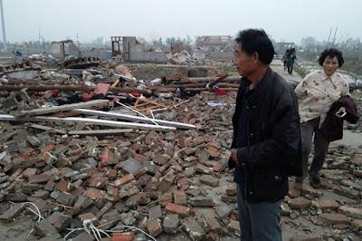 Poderoso tornado deja 78 muertos en China