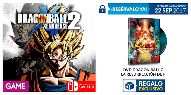 Consigue DVD de la película de Dragon Ball, reservando Dragon Ball Xenoverse 2 en GAME