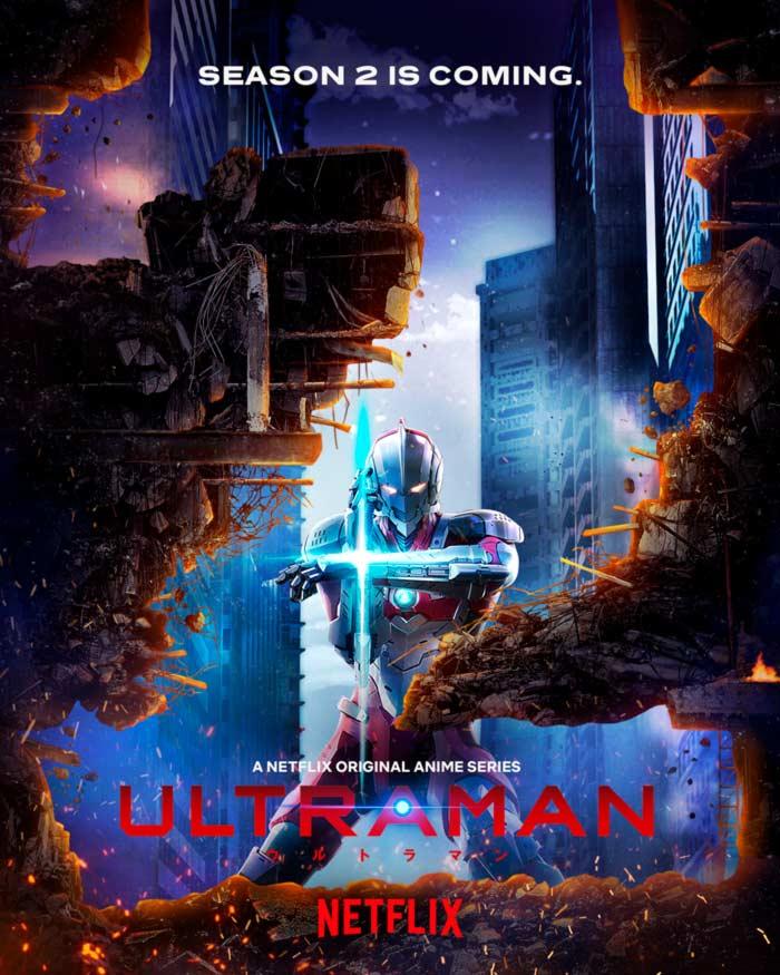 Ultraman anime - Temporada 2 - Netflix - poster