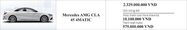 Giá xe Mercedes AMG CLA 45 4MATIC 2019 tại Mercedes Trường Chinh