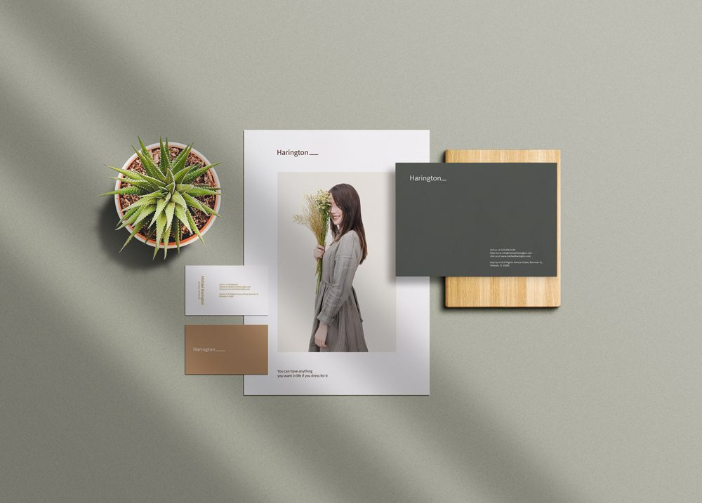 Small Paper Branding Mockup
