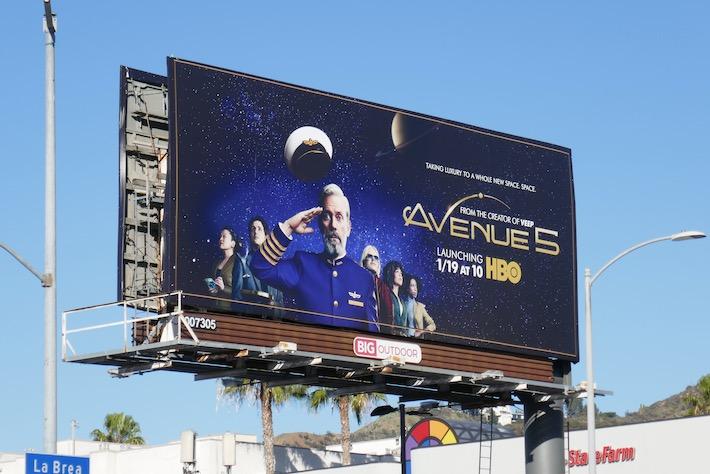 Avenue 5 HBO series billboard