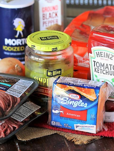 Easy Cheeseburger Sliders Ingredients Image