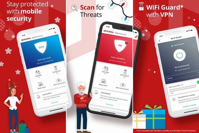 McAfee-Mobile-Security - أفضل تطبيقات الخصوصية والحماية للايفون وآيباد
