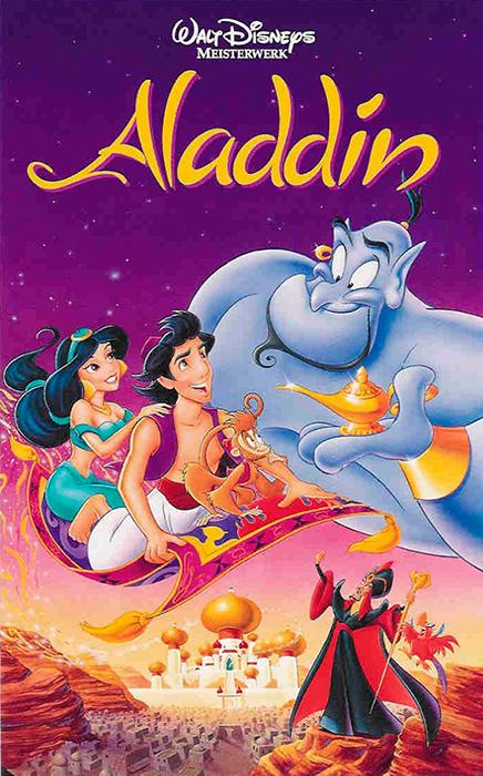 Cartel de la película de Disney Aladdin