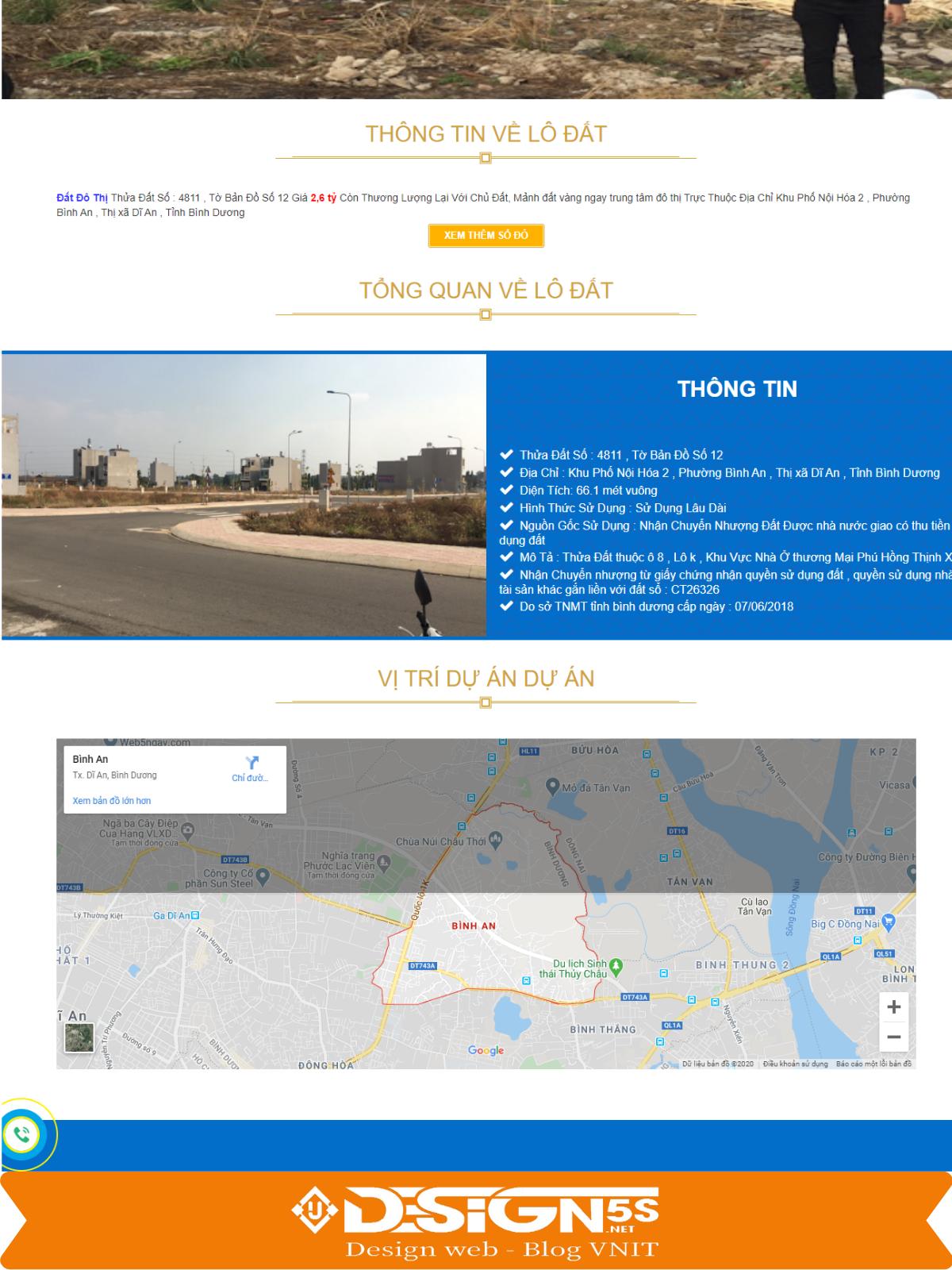 Free Template Blogger Landing Page Bán Đất  - Ảnh 2