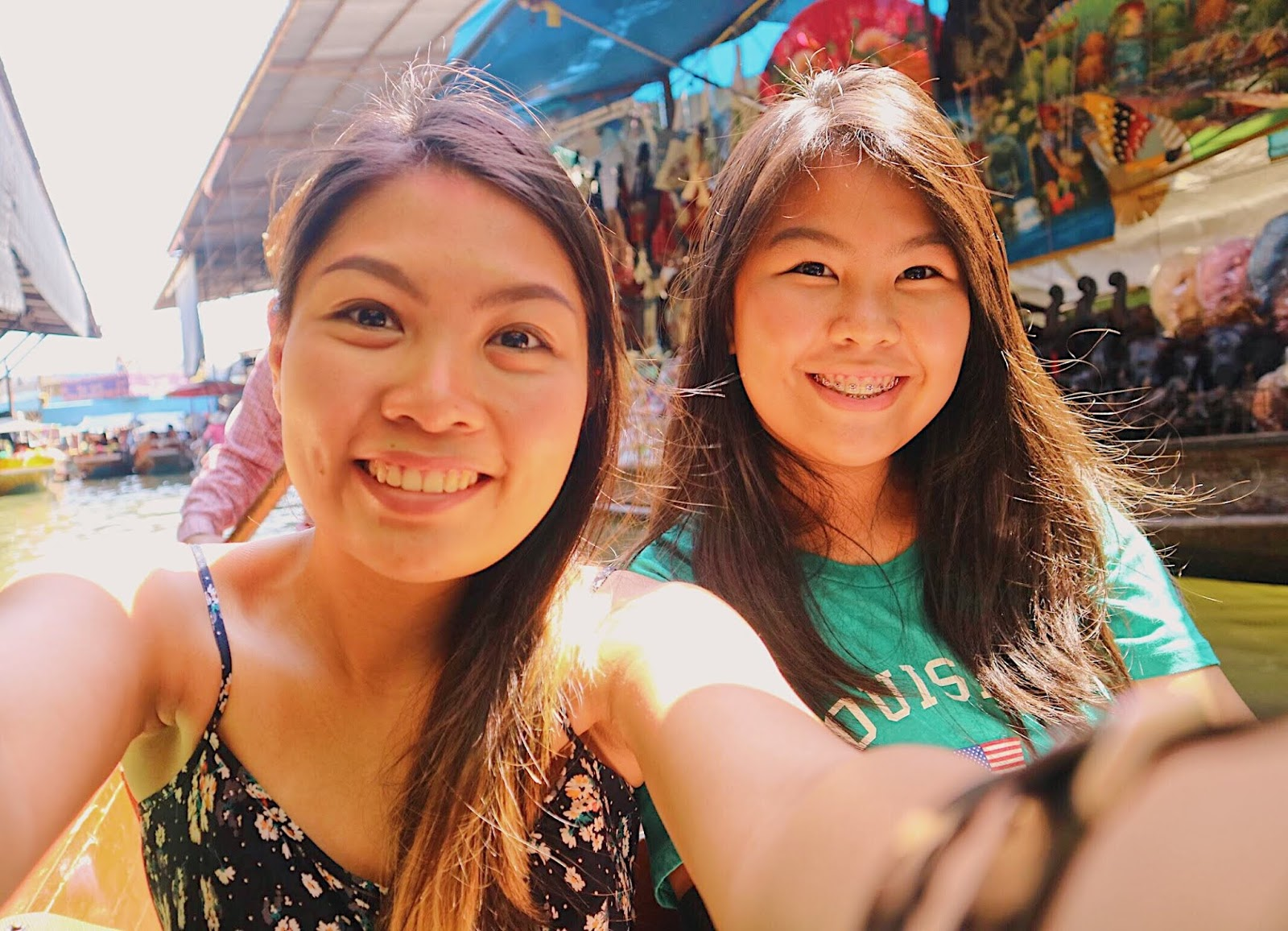selfie in Bangkok's floating market