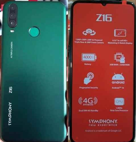 Symphony Z16 Flash File Tested (MT6765) Tested Firmware - All Mobile Tips BD