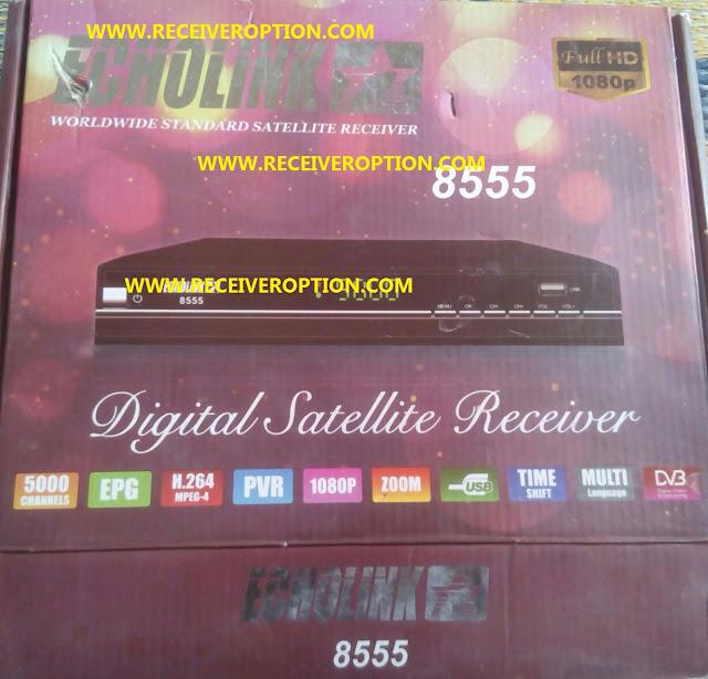 ECHOLINK  8555 HD RECEIVER POWERVU KEY NEW SOFTWARE