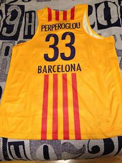 Camiseta Barcelona Cantera. Camiseta Kostas Perperoglu. Match Worn. 088a8b1fff8