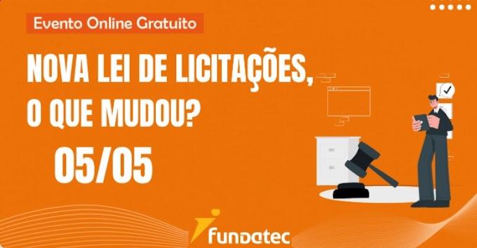 Fundatec promove live sobre a nova Lei de Licitações e Contratos no dia 5 de maio