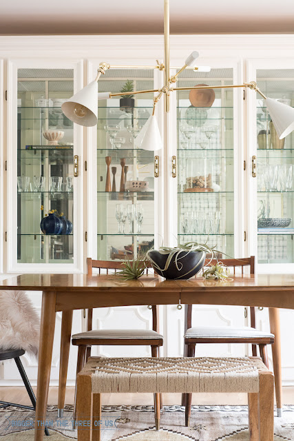 eclectic classic mid century dining room reveal