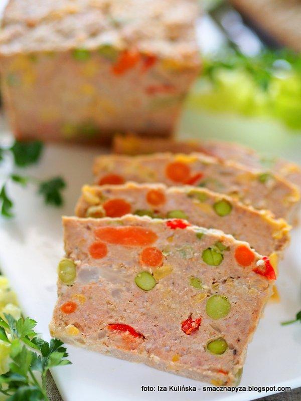 kolorowa pieczen, pieczen z miesa mielonego z warzywami, warzywa mrozone, mrozonki, mieso na kanapki,