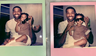 Tristan Thompson with daughter True Thompson