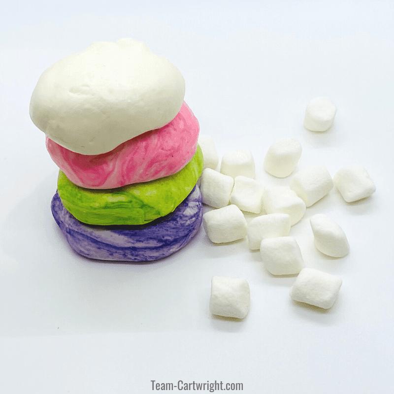 marshmallow playdough recipe