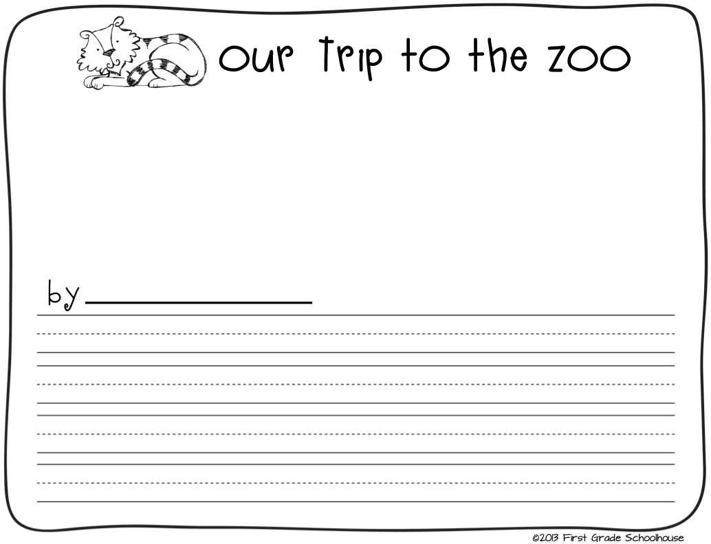 Classroom Freebies Too Zoo Animals Writing