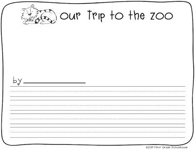 classroom freebies too zoo animals writing. Black Bedroom Furniture Sets. Home Design Ideas